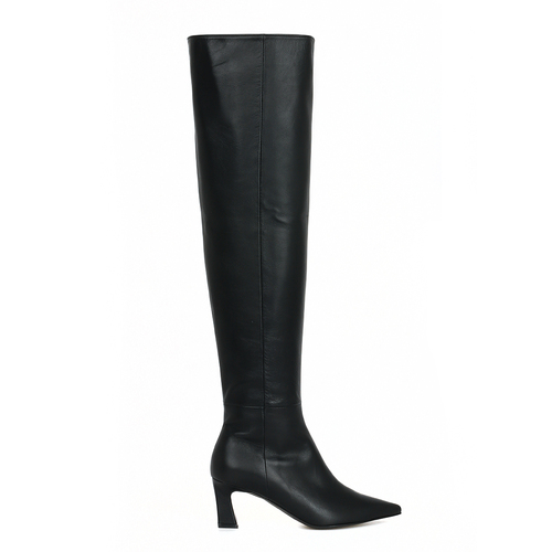 Scene Knee High Boots_Black