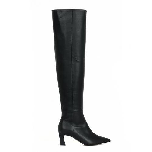 Scene Knee High Boots_Black