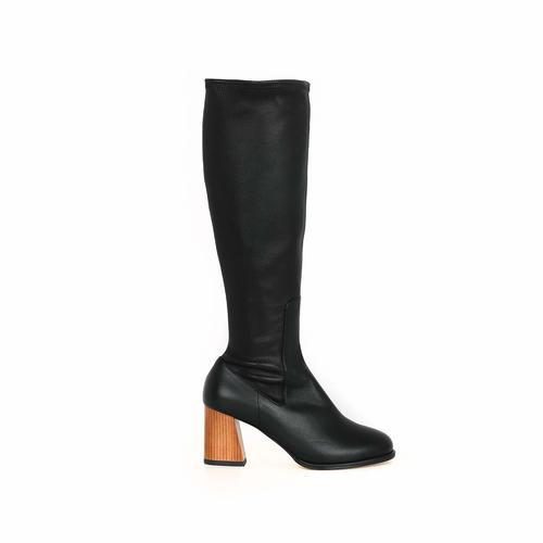 Trim Long Boots_Black
